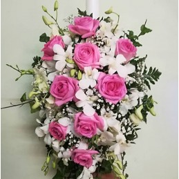 Lumanare Botez Trandafiri...